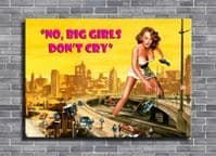 1950's Movie - ATTACK OF THE 50ft WOMAN - cry pink / canvas print - self adhesive poster - photo